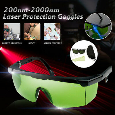 AU 200nm-2000nm Laser Lighting Protection Protective Goggles Glasses IPL-2 OD+4D