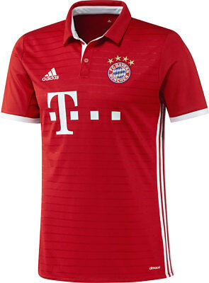 Adidas Kids Football FC Bayern München Home Jersey Shirt 2016 2017 Red White