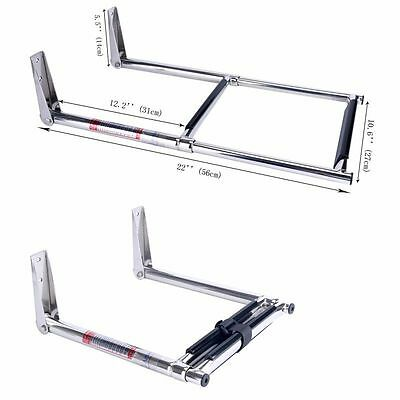 2 Step Stainless Steel Telescoping Over Platform Boat Boarding Ladder Swim Step
