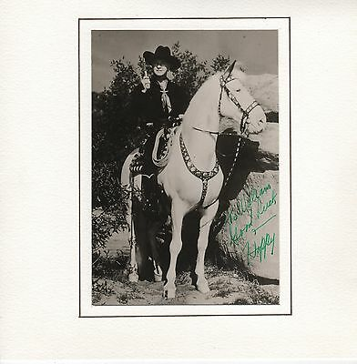 Hand Signed Autographed Photograph Of Hopalong Cassidy - William Boyd