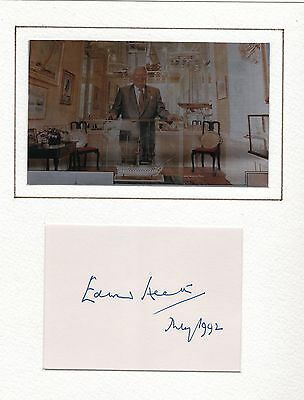 Hand Signed Autograph & Photo For Edward Heath Uk Prime Minister - Dated May 92