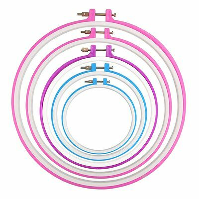 Embroidery Hoop Cross Stitch frame Ring Hoops Set, Pack of 5