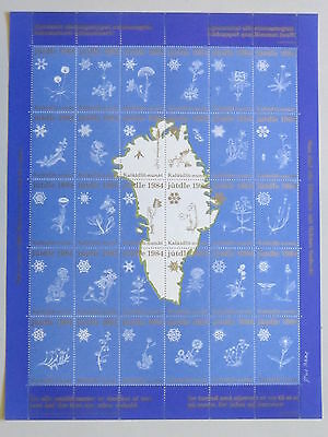 GREENLAND Christmas Seal Stamp 1984 UNFOLDED