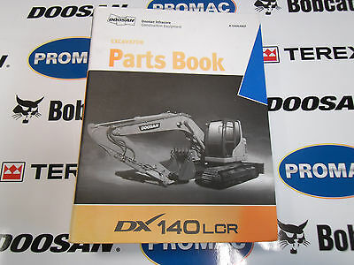 Doosan Dx140Lcr Excavator Parts Identification Manual Catalogue Book. Free Post