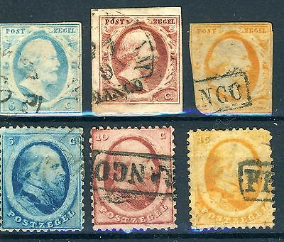Timbres Des Pays Bas 6 Timbres Obliteres Y&t N° 1 A 6
