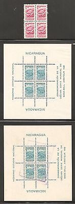 Nicaragua 1949 10th World Amateur Baseball Championships Obligatory Tax Stamps