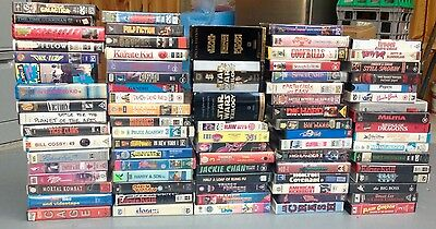Group Bulk Lot Vhs / Pal / Rare Titles / 88 Tapes / Collectable