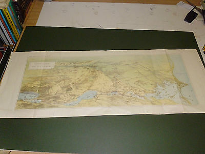 100% Original Large Birds Eye Map Of The Suez Canal From Graphic  C1882 Vgc