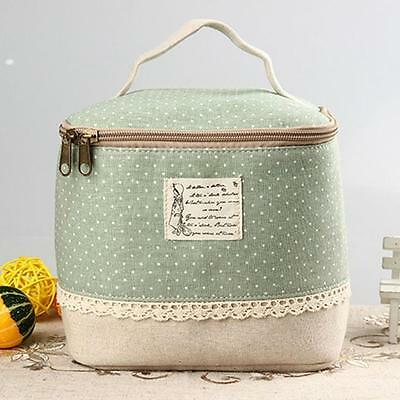 Portable Thermal Insulated Lunch Box Tote Cooler Bag Bento Pouch Container GN UK