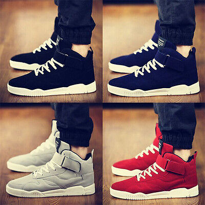 New Men's Shoes High Top Casual Canvas Boots Sneakers Sport Breathable Running