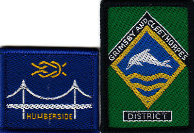 Boy Scout Badges HUMBERSIDE County+ GRIMSBY and CLEETHORPES DISTRICT