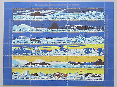 GREENLAND Christmas Seal Stamp 1979 UNFOLDED