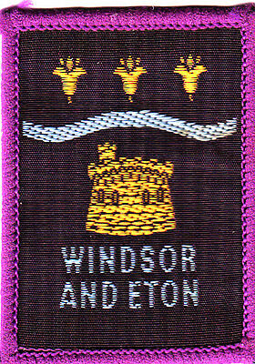 Boy Scout Badge single WINDSOR and ETON DISTRICT