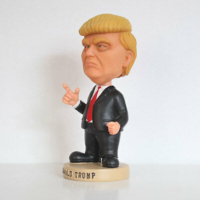 United States Donald Trump Dolls Shaking Head Car Desk Oranment Figures
