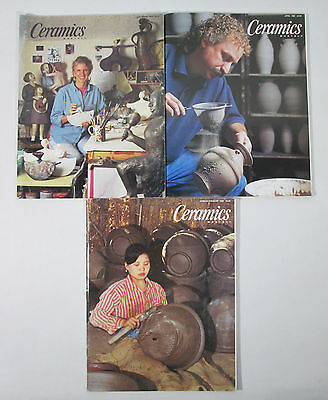 3 1990s Ceramics Monthly Magazines Sept 1994 April 1996 Jun/Jul/Aug 1996 Craft
