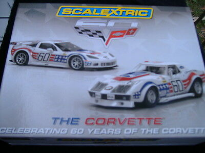 Scalextric C3368A Celebrating 60 Years Of The Corvette Twin Pack Ltd Ed 1/3000