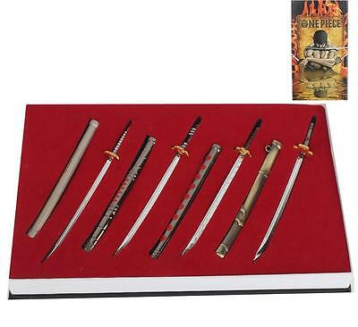 8pcs One Piece Weapon Set Roronoa Zoro Cosplay Prop Sword Model Collection Gift