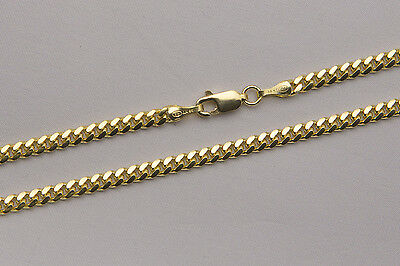 "14k Solid Yellow Gold 3mm Men Women Miami Cuban Link Chain Necklace Size 20""-36"""