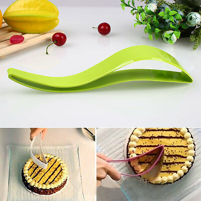 Plastic Bread Cake Knife Slicer Sheet Server Magisso Pie Cutter Kitchen Gadget