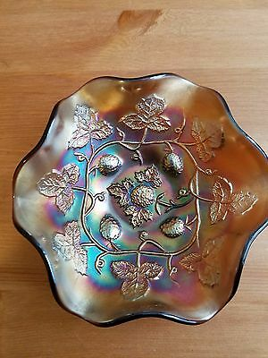 Carnival Glass MILLERSBURG BLACKBERRY WREATH BERRY BOWL GORGEOUS COLOR