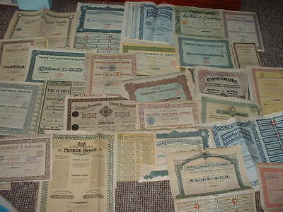 SCRIPOPHILY VINTAGE CERTIFICATES  200 DIFF SHARE / STOCK BONDs GET WHAT YOU SEE