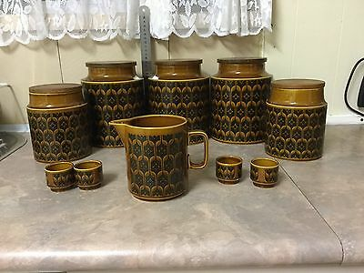 Vintage Hornsea Heirloom Canister set - Made In England. 1974.  10 Pieces !