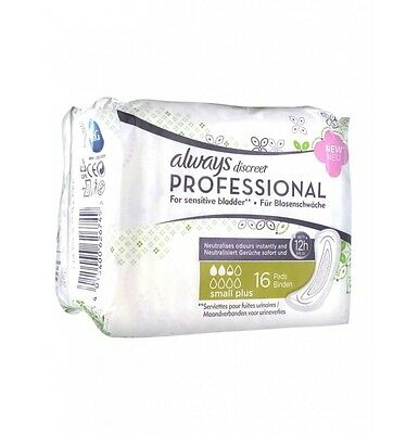 Always Discreet Professional Small Plus 16 Serviettes