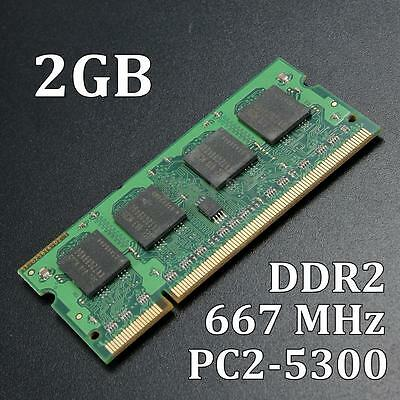 2GB 2G DDR2-667MHz PC2-5300 SODIMM Memory RAM 200pin Non-ECC For Laptop Computer