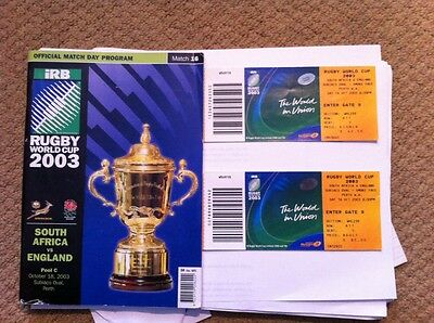 Rugby Union Official World Cup 2003 program