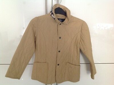 Girls Burberry cream coat age 8