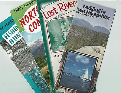 New Hampshire, lot of 4 vintage travel brochures & lodging directory
