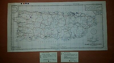 1942 US Army Map Puerto Rico AMS E431 1:300,000 w/ Insets