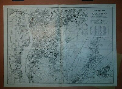 1920 (?) General Map of Cairo Egypt