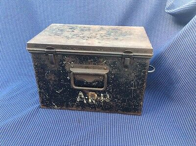 ARP Warden Tin WWII Civil Defence Home Front WW2