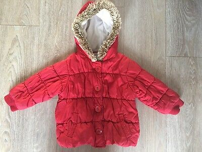 NEXT Girls Red Coat 2-3 Years