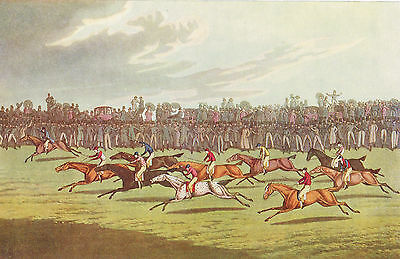 Horse Racing by I.Clark after H.Alken Antique 1908 Sporting Print