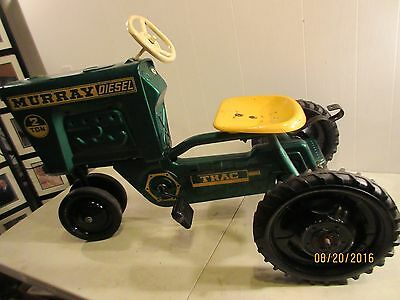 """"""" Murray ' Vintage 2 Ton Diesel Riding Pedal Tractor, All Pressed Steel"""