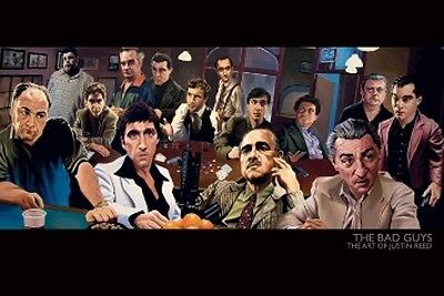 "The Bad Guys Poster ""scarface, Godfather"" Licensed ""brand New"""
