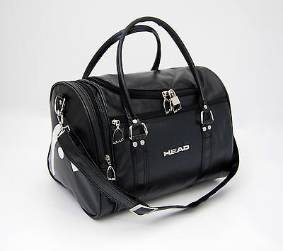HEAD St Moritz Faux leather black holdall