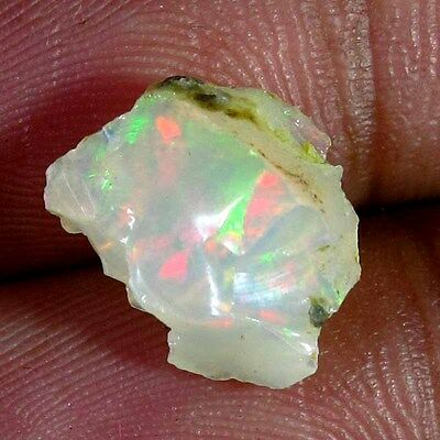 4.30 Cts. 100% Natural Ethiopian Opal Rough Play Of Color Cabochon Gemstones