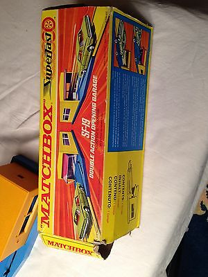 vintage boxed matchbox Superfast SF-19 double action opening Garage