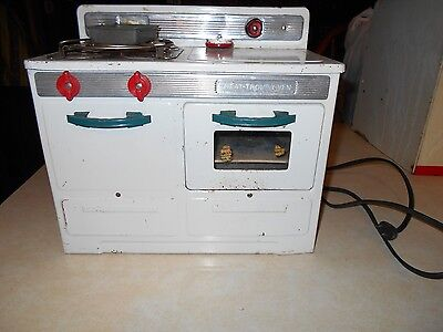 """1950's Toy Electric Stove Heat-Trol Oven 11X12X6"""" Works Made Byempirecat.#232"""