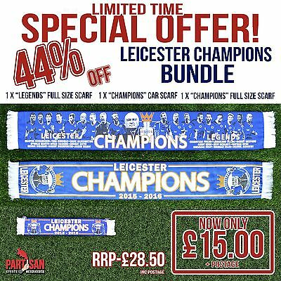 Leicester City Champions Scarf Bundle Special Offer Christmas Offer