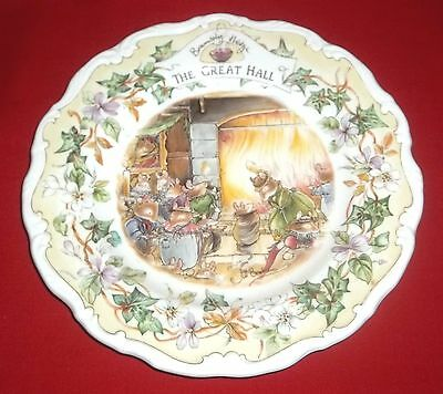 Royal Doulton BRAMBLY HEDGE - THE GREAT HALL Collectors Plate