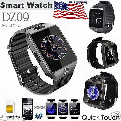 Sliver DZ09 Bluetooth Smart Watch GSM SIM For iPhone Samsung Android Phone Mate