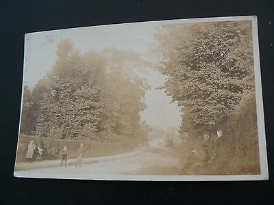 Budleigh Road - Real Photo RP Postcard - Portscatho - Miss Adams at Camborne