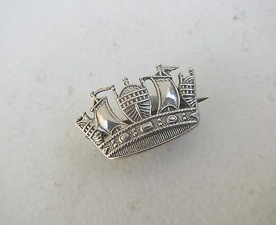 Old Sterling Silver Navy Crown Badge - WW2 era?