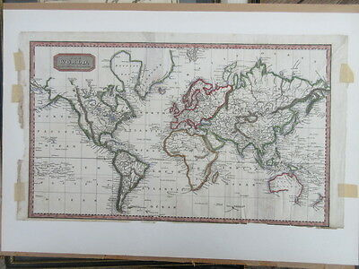 Antique map The World on Mercator's projection by Alexander Findlay c1837