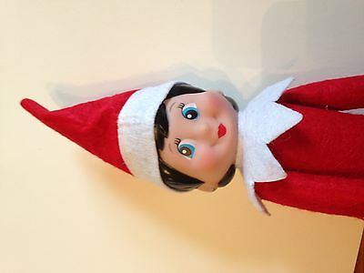 Red Girl Christmas Elf toy decoration * shelf not included* UK STOCK