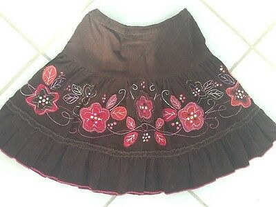 Girls Cord Brown Skirt Age 4 Years